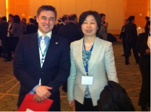 Ben with Deputy Consul General Wang Shuying of the Chinese Consulate in Chicago