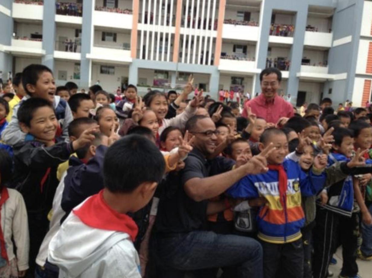 Image of students during a Kunming-Denver exchange